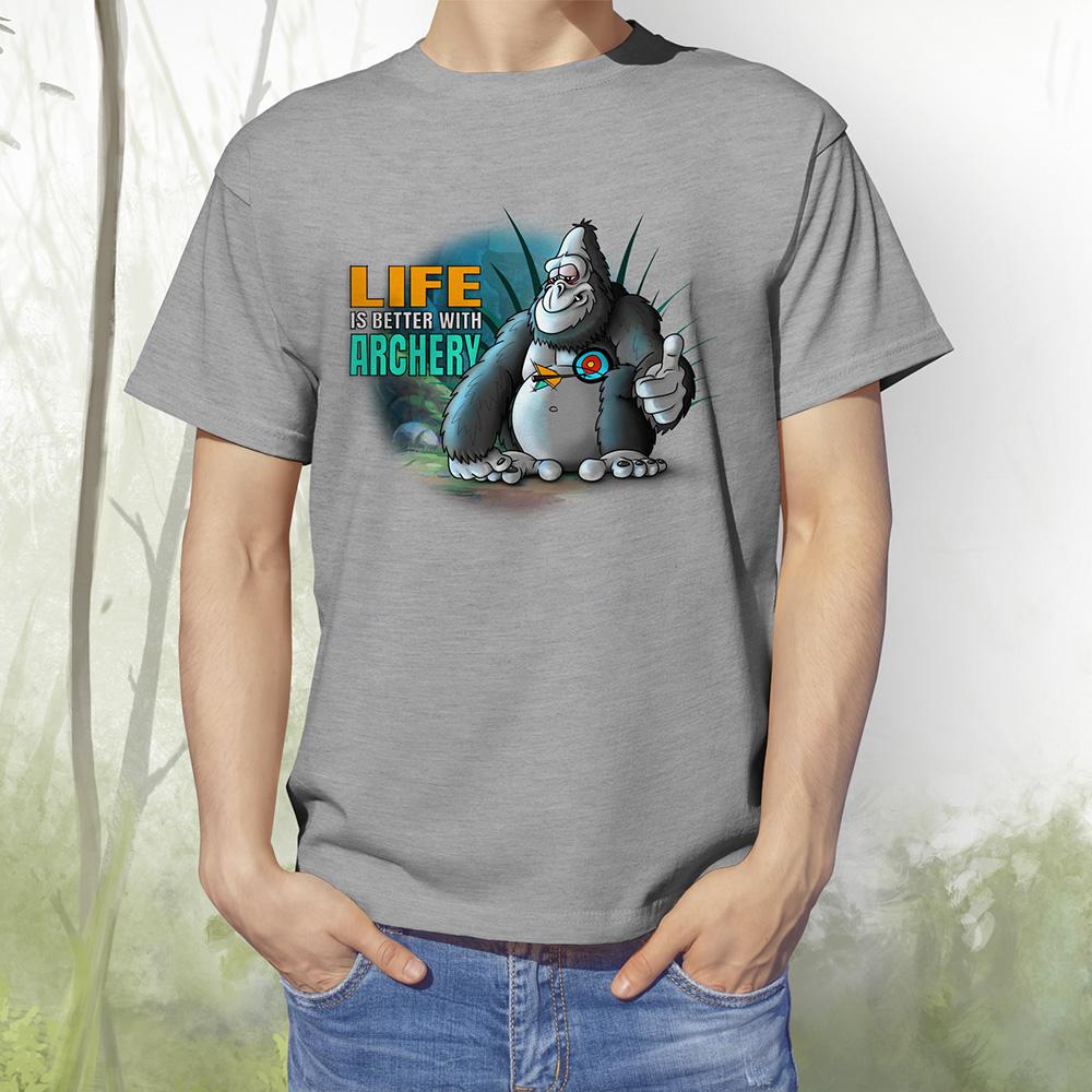 T-Shirt Gorilla1 grey melange