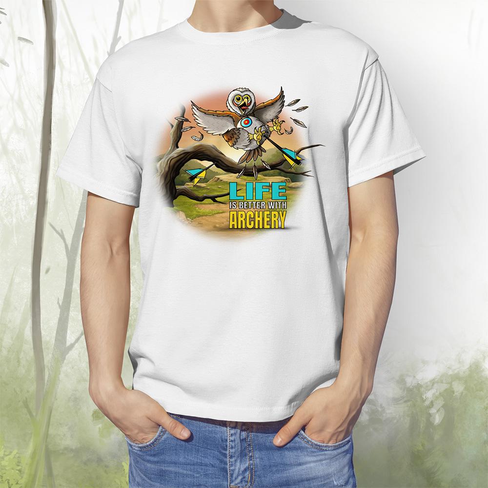 T-Shirt Eule2 weiss