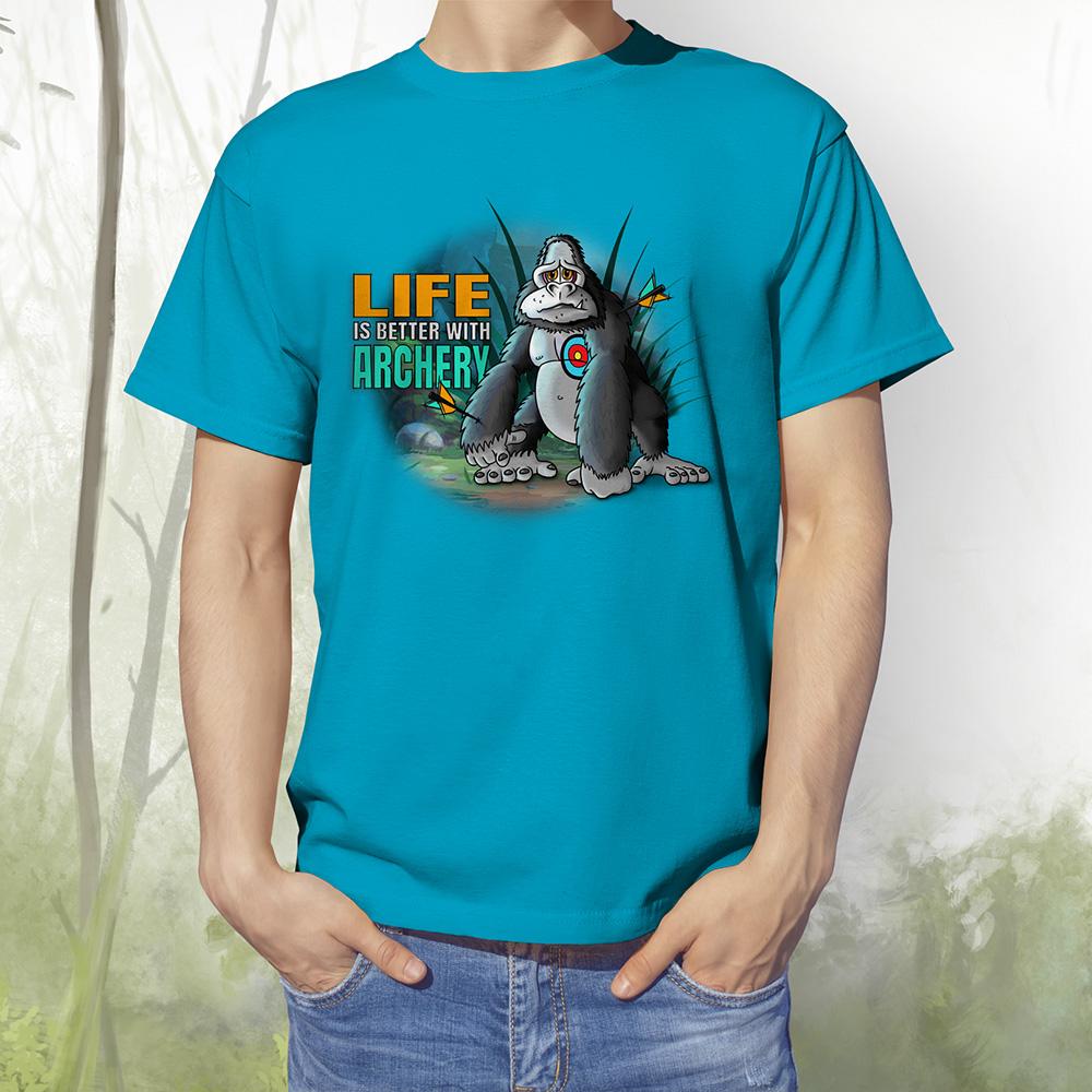 T-Shirt Gorilla2 aqua