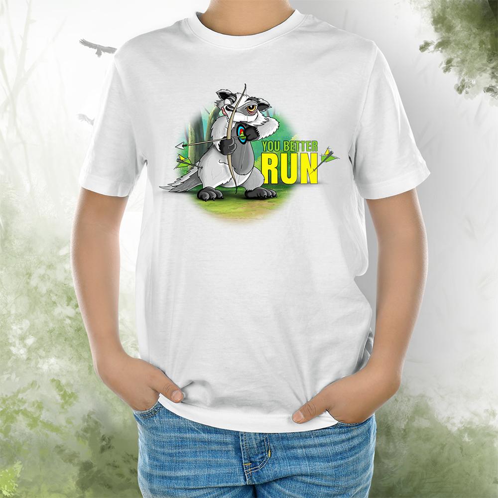T-Shirt Kids Dachs better run weiss