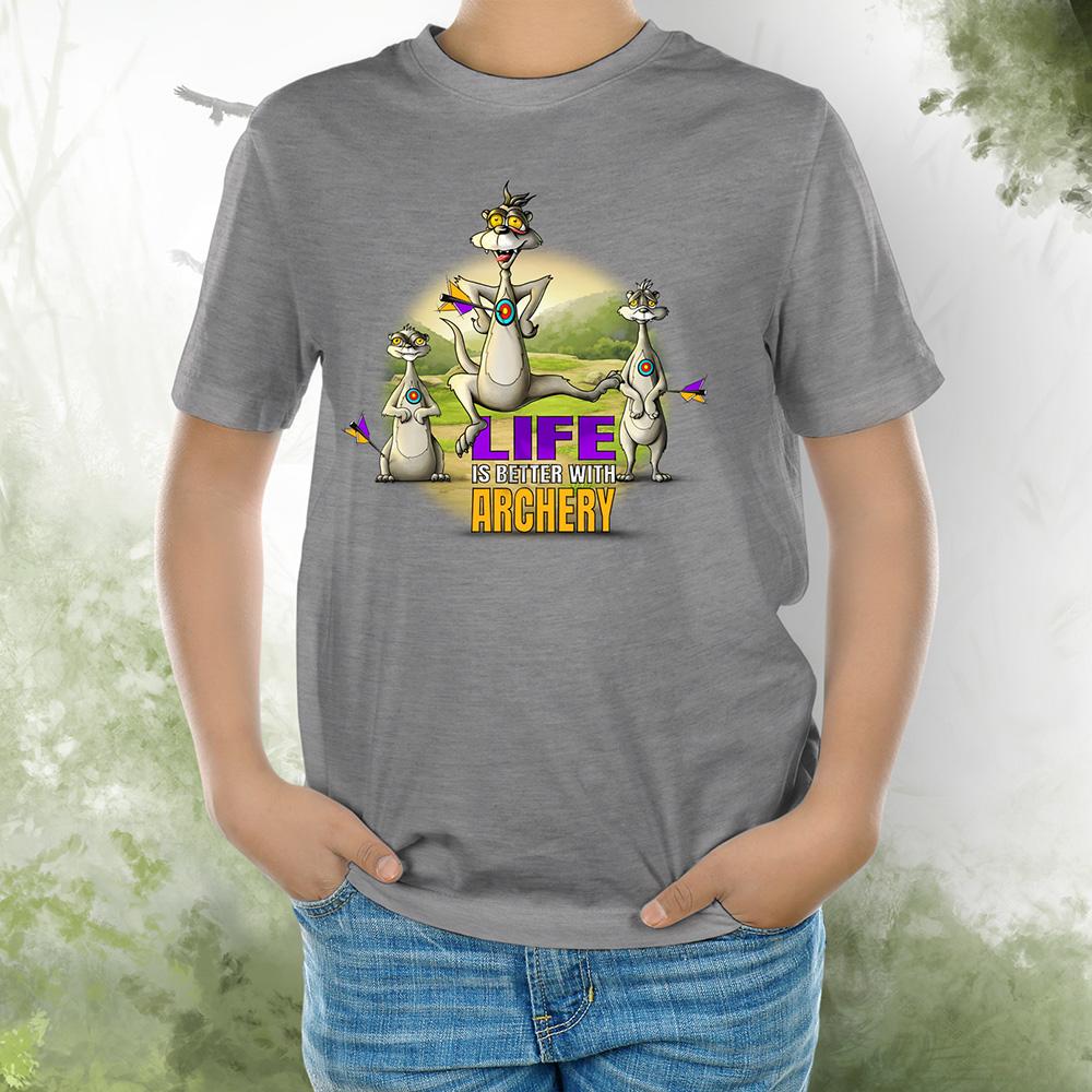 T-Shirt Kids Erdmännchen grey melange