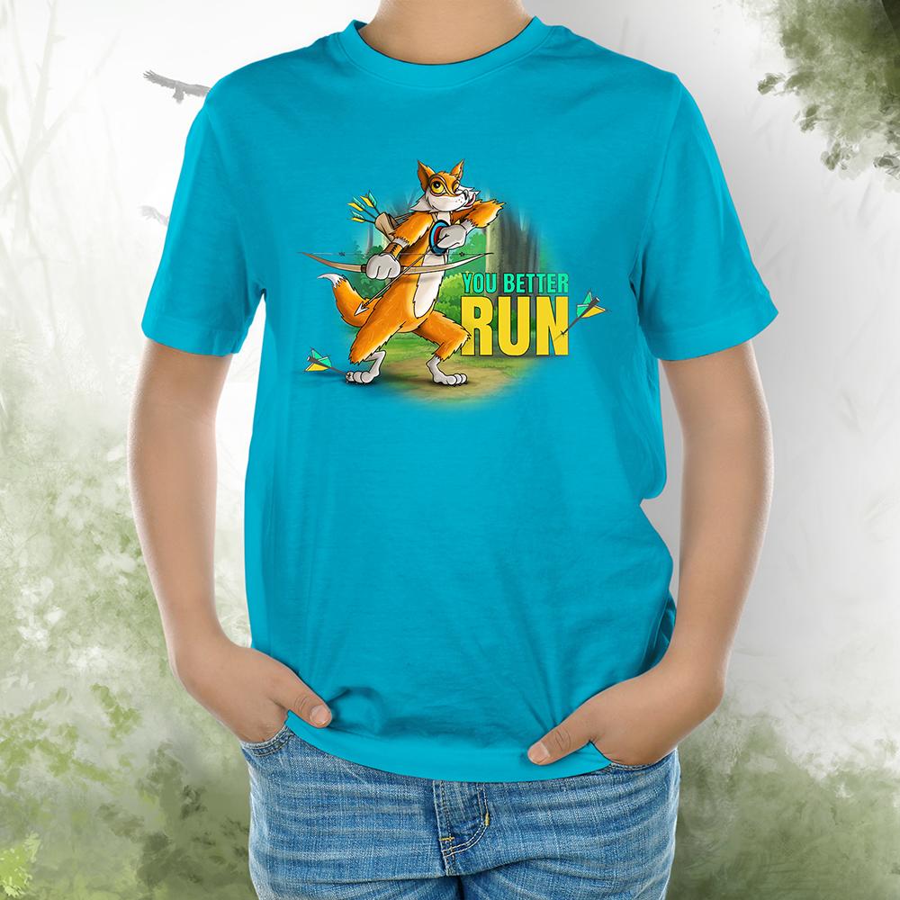 T-Shirt Kids Fuchs better run aqua