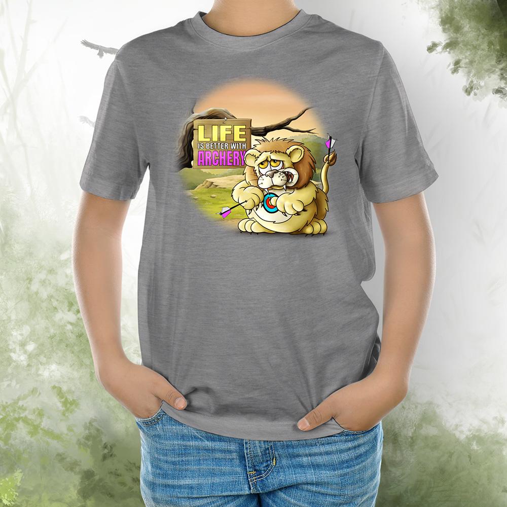 T-Shirt Kids Löwe 2 grey melange