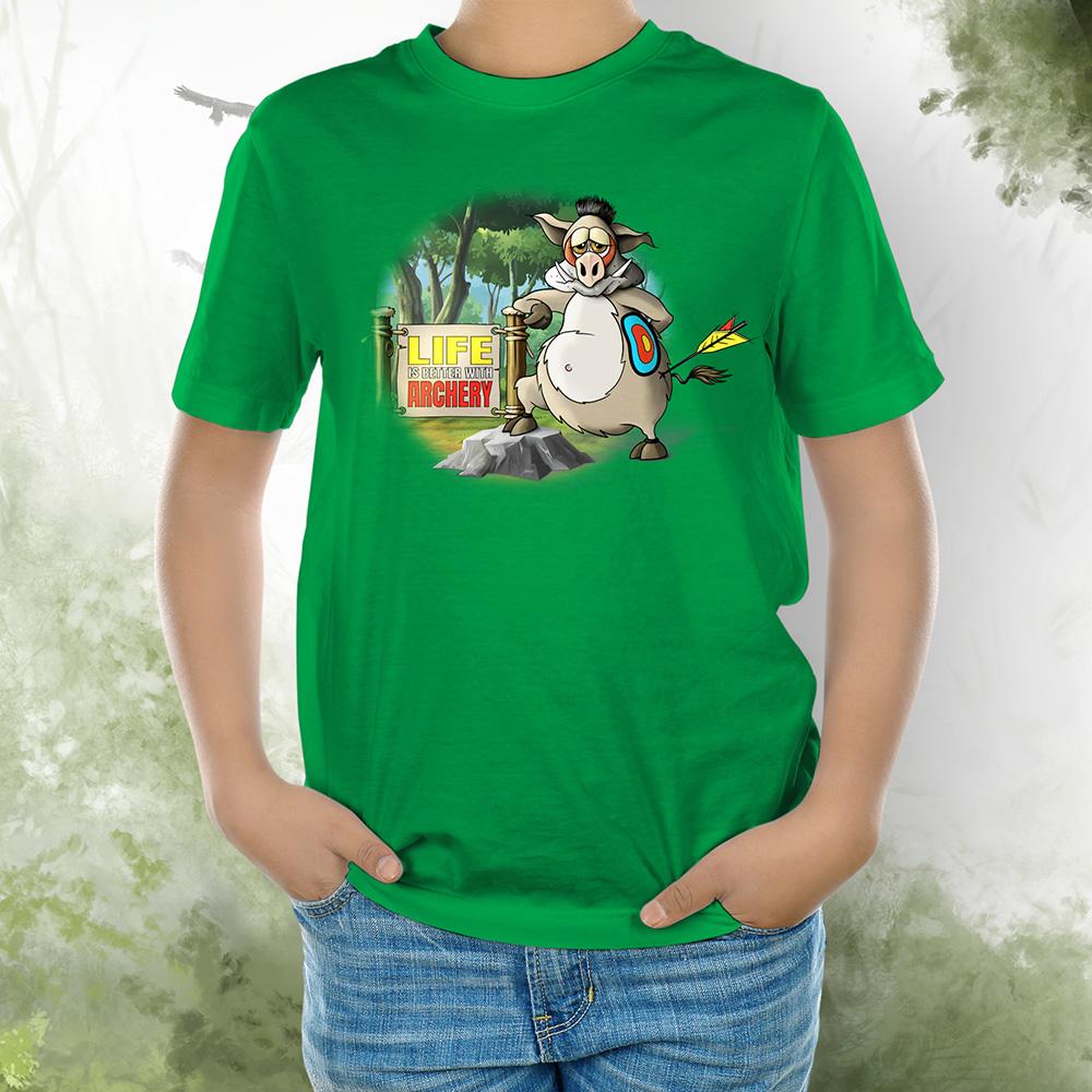 T-Shirt Kids Wildsau kelly green