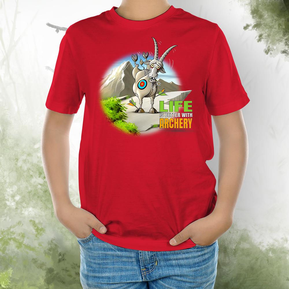 T-Shirt Kids Steinbock 2 red