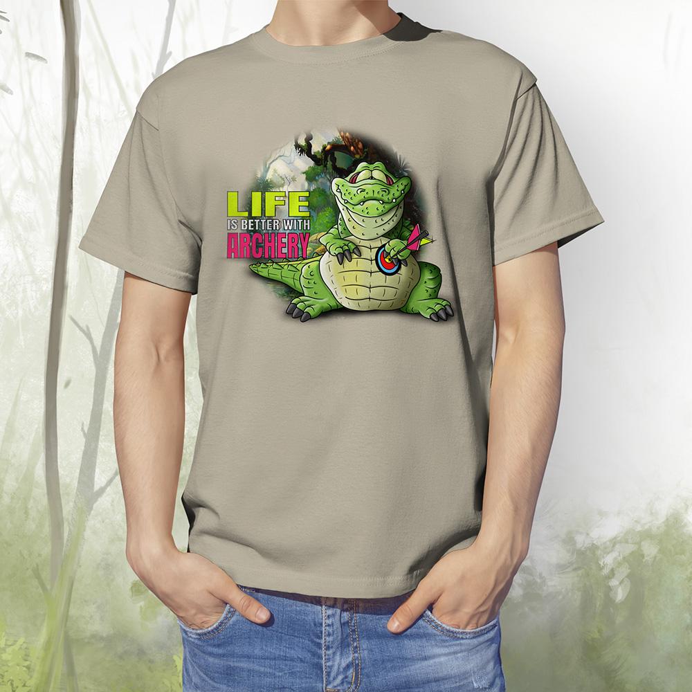 T-Shirt Kroko1 khaki