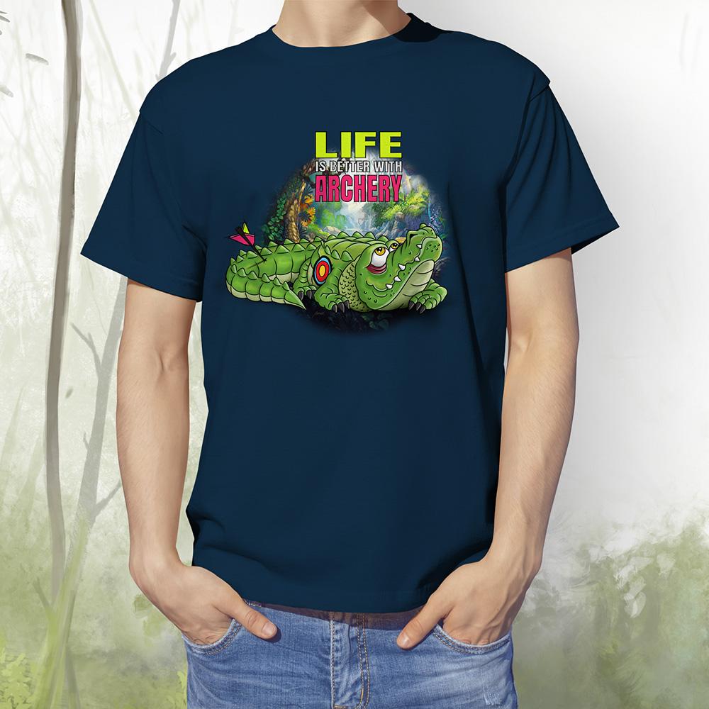 T-Shirt Kroko2 french navy