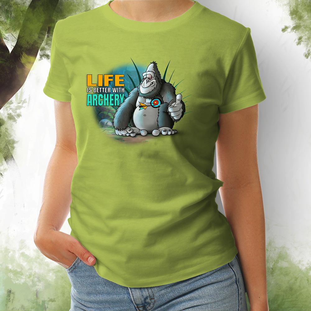 T-Shirt Damen Gorilla 1 apple green