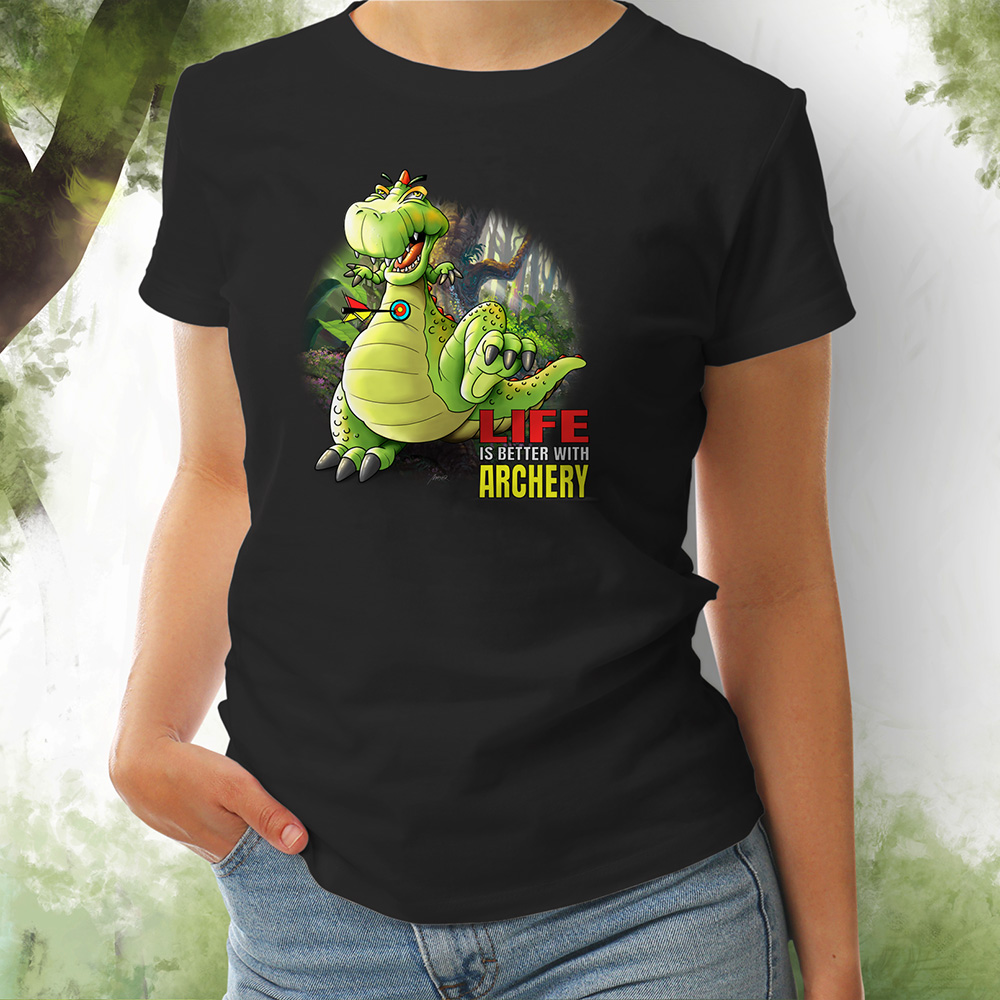 T-Shirt Damen Dino schwarz